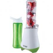Blender Russell Hobbs Mix & Go 21350-56, 300 W, 0.6 l, 2 recipiente, Verde/Alb
