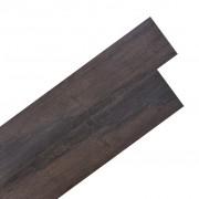 vidaXL Самозалепващи подови дъски PVC 5,02 м² 2 мм тъмнокафяви