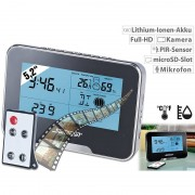 Somikon Full-HD-Überwachungskamera mit Wetterstation und Bewegungserkennung