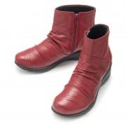 ドルチェ牛革パッチワーク軽量ブーツ【QVC】40代・50代レディースファッション