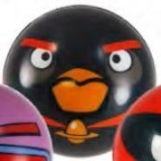 "Angry Birds Space 3"" Foam Ball - Black Firebomb Bird"