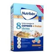 Papa 8 cereais com 4 frutas e leite adaptado 300g - Nutriben