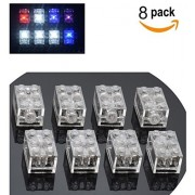 Light Building Blocks Classic Creative Bright Supplement, Electric Clear Transparent Brick, Compatible With Lego