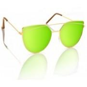 Knotyy Shield Sunglasses(Green)