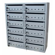 Cutie postala pentru scara bloc- 12 module, 2 coloane, Comanda speciala- Lucios Brun (+30 lei)