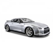 Maisto Nissan GT-R, Silver - 31294 1/24 Scale Diecast Model Toy Car