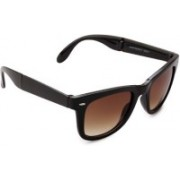 Pede Milan Rectangular Sunglasses(Brown)