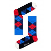 Happy Socks blue-red checked sock Argyle