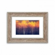 East Urban Home 'Just Gold Forest' Framed Painting East Urban Home Size: 70 cm H x 93 cm W, Frame Options: Walnut - Size: 70 cm H x 93 cm W