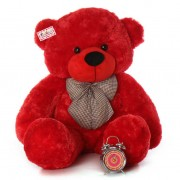 4 Feet Red Big Teddy Bear with a Bow