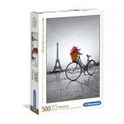 Puzzle High Quality Bicicleta cu flori in Paris, 500 piese