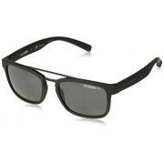Arnette AN4248 Baller anteojos de sol rectangulares para hombre, Negro áspero/gris polarizado., 54 mm