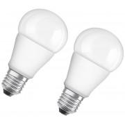 Osram LED STAR CLA60 Lampe, 10 Watt, E27, matt, warmweiß - 2 Stück
