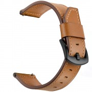 Quality Genuine Leather Watch Strap Replacement for Huawei Watch GT / Watch 2 / Watch Magic - Brown