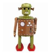 Classic Vintage Clockwork Wind Up Retro Robot Photography Children Kids Tin Toys With Key