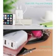 Incarcator retea Usams U2+ Dual USB Sony Xperia C4 E5303 E5306 E5353 Alb