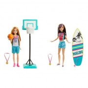 Papusa Barbie® - Skipper™ surfing kit in vacanta, 2020, 3 ani+