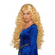 Smiffys Lange blonde damespruik met krullen