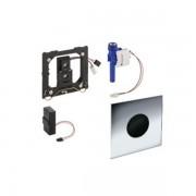 Geberit Sigma 01 urinoir stuursysteem infrarood 2 knops met batterijvoeding glanschroom 116.031.21.5