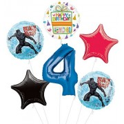 Mayflower Black Panther 4Th Birthday Party Supplies Balloon Bouquet Decorations