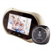 Spioncino per porte LKM Security® con funzione WiFi + GSM colore Champagne