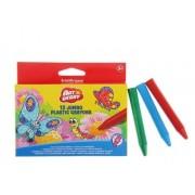 Set 12 creioane colorate din plastic
