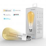 Bec LED smart Yeelight Filament ST64 vintage 2700K, 500 lumeni, compatibil Google, Alexa, Homekit, IFTTT, SmartThings