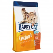 Happy Cat Indoor Adult con salmón del Atlántico - Pack % - 2 x 4 kg