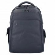 Piquadro Black Square 3444 mochilo piel 43 cm compartimento para portatíl Blue