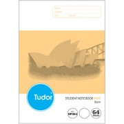 TUDOR NP064 NSW RULING BLANK EXERCISE BOOK 64 PAGE 250 X 175MM BUFF PACK OF 20