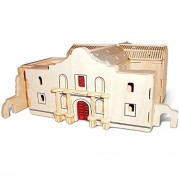 Puzzled The Alamo 3-D Wooden Puzzle Construction Kit - Famous Sites / Buldings Theme - Affordable Gift For Kids and Adults - Item #1524