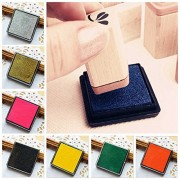 Generic Diy Cube Sponge Ink Pad For Rubber Stamp Scrapbook Photo Album( Gold Only)