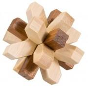 Joc logic IQ din lemn bambus in cutie metalica-321