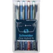 Roller cu cerneala SCHNEIDER One Hybrid N needle point 0.3mm 4 culori-set - N.R.A.V
