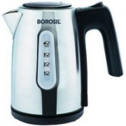 Borosil BKE10LSSB12 Electric Kettle(1 L, Silver)