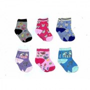 BABY SOCKS COTTON WOOLEN MIX (0months to 5 Yrs) Pack of 6 Pairs