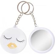 Lg-imports Sleutelhanger Lippen Met Spiegel Oranje