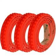 SuSenGo 3 Rolls Red 9.8Feet/3meter Loops Building Block Tape Roll Self-Adhesive