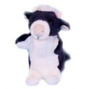Dowman Soft Toys Pluche koe handpoppen 28 cm