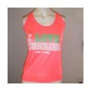 Regata Feminina I LOVE RUNNING - Pink Neon Tamanho G