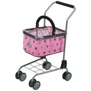 Bayer Chic 2000Â 761Â 83Â Shopping Trolley for Children with Supermarket Grocery Shop Accessories, Star Design Grey