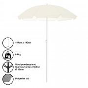 [casa.pro]® Suncobran za plažu (krem boje, 140x164cm)