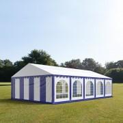 TOOLPORT Partytent 5x10m PVC 500 g/m² blauw waterdicht Feesttent