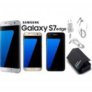 Samsung Galaxy S7 Edge Plateado 4GLTE 32GB Cámara 12MP Liberado Para Cualquier Compañía Garantía De 1 Año