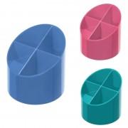 Suport cu 4 compartimente Herlitz Cool Color albastru