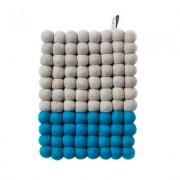 Aveva Design Grytunderlägg Aveva Dip Wool Rektangel 22 cm, Turkos/Grå