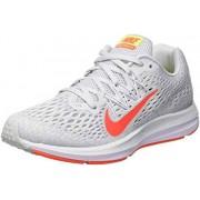 Nike Air Zoom Winflo 5_AA7414-005 Tenis para Correr para Mujer, Pure Platinum/Bright Crimson/White, 7