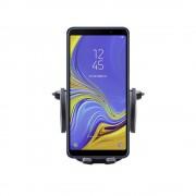 Shop4 - Samsung Galaxy A7 (2018) Autohouder Verstelbare CD Houder Zwart met Draaiklem Zwart