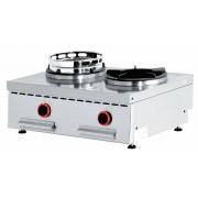 Diamond Feu wok gaz de Comptoir 2 feux 2 x 15kW