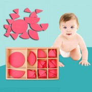 Wooden Mathematics Fraction Division Circles Teaching Aids Educational Toy Montessori Concept Education Toys Gift For Babies